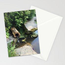 Kubota Garden pond with log Stationery Cards