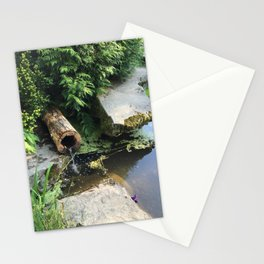 Kubota Garden pond with log Stationery Cards