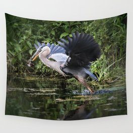 Heron Take-off Wall Tapestry