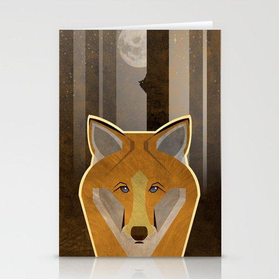 Night Fox Stationery Cards