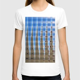 Blue and Brown Spikes T-shirt
