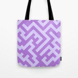 Pale Lavender Violet and Lavender Violet Diagonal Labyrinth Tote Bag