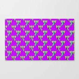 elephant alien butterfly pattern Canvas Print