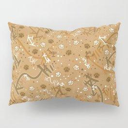 Pumpkin Spice Paw Prints Pillow Sham