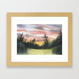 Briars Golf Course, Dusk Framed Art Print