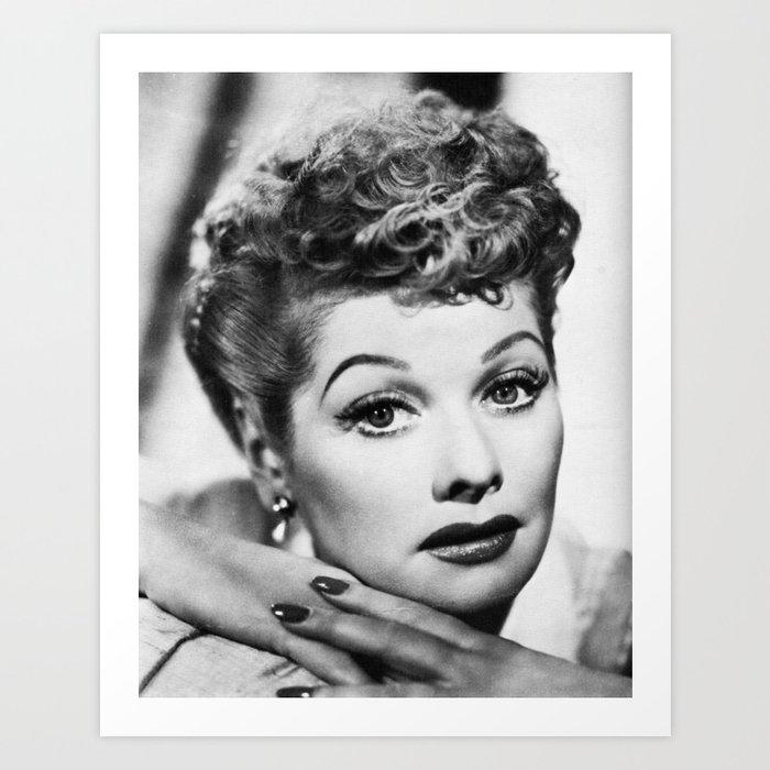 Lucille Ball I Love Lucy Beauty Art Print