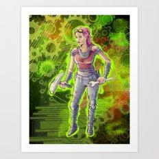 Steampunk Goddess Art Print