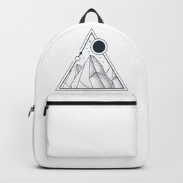 Mountains. Double Exposure. Geometric Style Backpack
