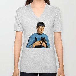 Spock's cat Unisex V-Neck