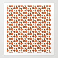 persimmon pattern Art Print