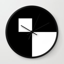 Black and White Color Block #2 Wall Clock