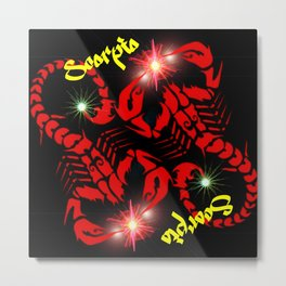 Scorpio Astrology Sign Metal Print