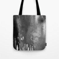 bleach Tote Bags featuring Bleach B&W by Sparky