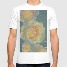 promised  a rose garden MEDIUM White Mens Fitted Tee