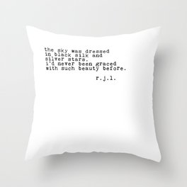Typewriter Thoughts #2 - the sky Throw Pillow