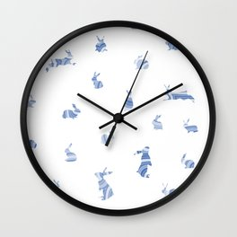 pattern with bunnies Wall Clock