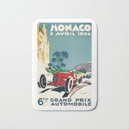 Grand Prix Monaco, 1934, vintage poster Bath Mat
