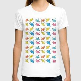 Colourfull paper cranes T-shirt