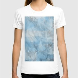 Abstract blue pattern 3 T-shirt
