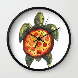 pizza turtle Wall Clock