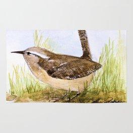 Wren Woodland Bird Nature Art Rug