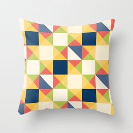 Colorful Triangle Pattern Throw Pillow