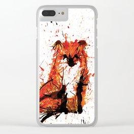 Sitting Fox Clear iPhone Case