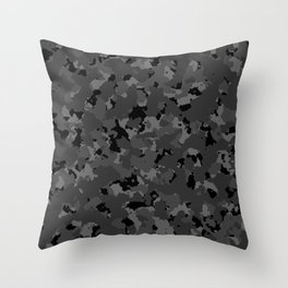 Black Camo Throw Pillow