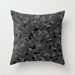 Black Camo Throw Pillow