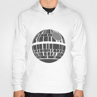 death star Hoodies featuring Death Star by olive hue designs