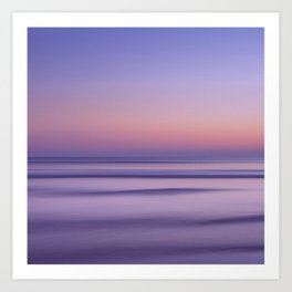 california sunset seascape Art Print