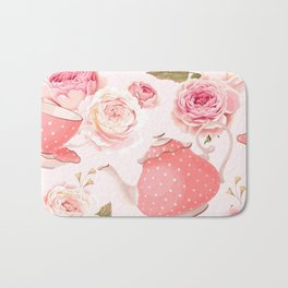 Pink Teacup Bath Mat