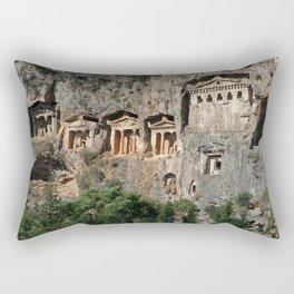 Lycian Tombs at Dalyan Close Up Rectangular Pillow