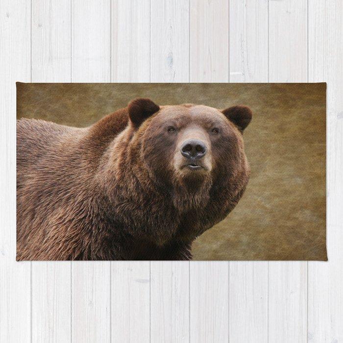 Brown Bear Stare Rug