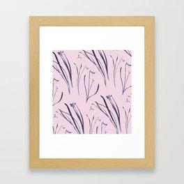 GALANTHUS IN CLASSIC ROSE Framed Art Print