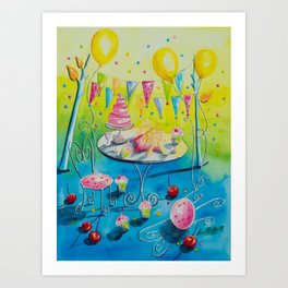 Time to celebrate Art Print