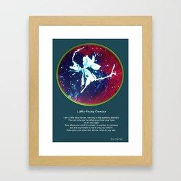 Tint Blot - Little Fairy Dancer Framed Art Print