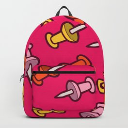 Map Tacks Pattern in Pink Backpack