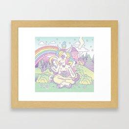 My Little Baphomet Framed Art Print