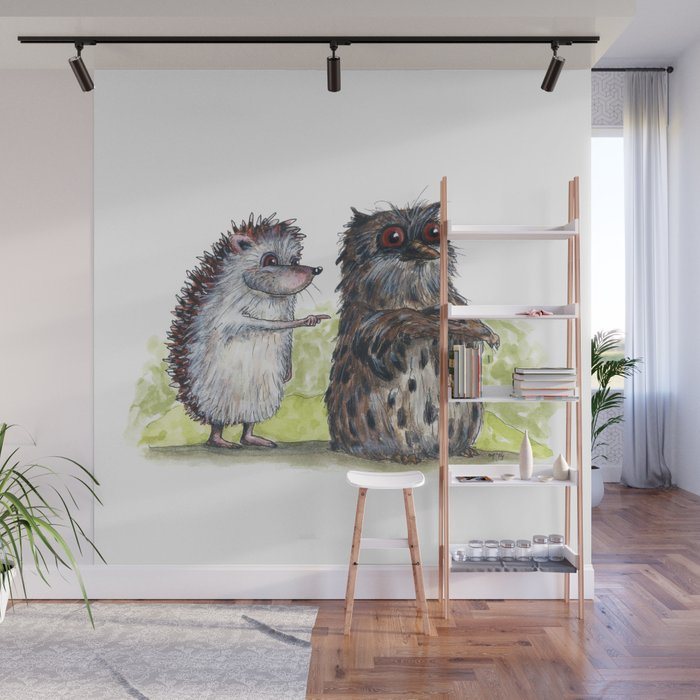Hedgehog's here Wall Mural
