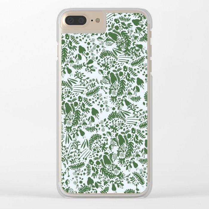 green garden Clear iPhone Case