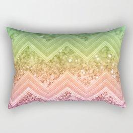 Rainbow Glitter Chevron #1 #shiny #decor #art #society6 Rectangular Pillow