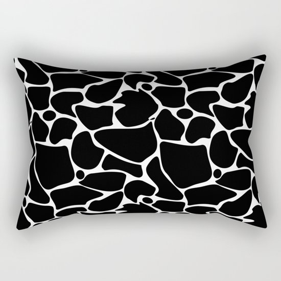 Black and white abstract pattern . Rectangular Pillow