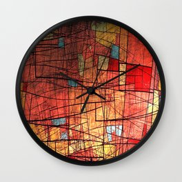 COLOR LINES Wall Clock