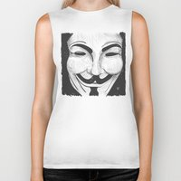 anonymous Biker Tanks featuring Anonymous by nicole carmagnini