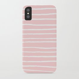 White lines on blush iPhone Case