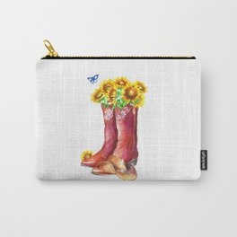 Western Sunflower Carry-All Pouch