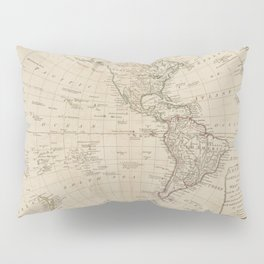 America North and South and the West Indies  Pillow Sham