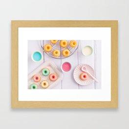 Mini bundt cakes Framed Art Print