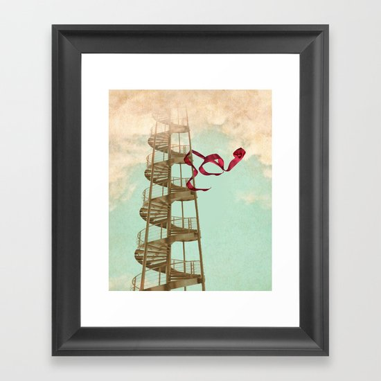 Stair way to nowhere Framed Art Print